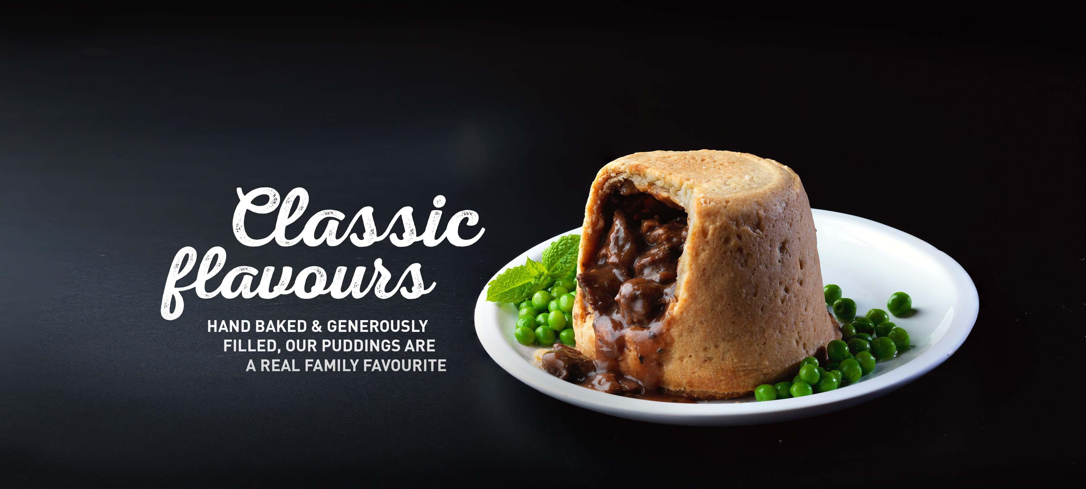 Steak & Kidney Pudding Home Shot - GBP
